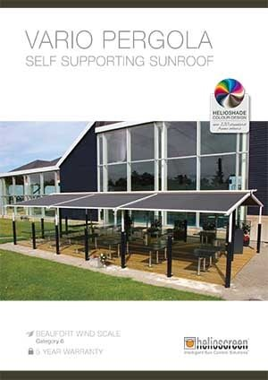 Helio Vario Self Supporting Pergola Brochure